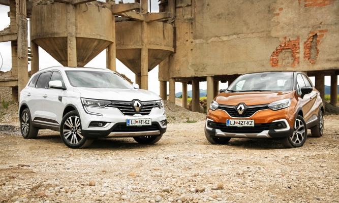 Renault koleos in captur